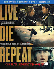 Live Die Repeat: 3D Edge of Tomorrow (3D/Blu-ray/DVD, 2014, 3 Disc)Lenticular