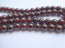 "6mm Natural Garnet Round Semi Precious Gemstone Beads - Half Strand (7.5"")"