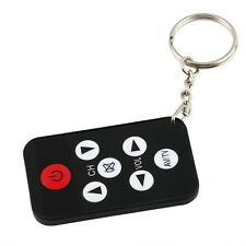 Mini Universal Infrared IR Set Remote Control Keychain Key Ring 7 Keys for TV BY
