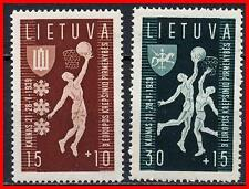 LITHUANIA 1939 EUROPEAN BASKETBALL CHAMPIONSHIP SC# B52-53 VF MNH SPORTS (E15)
