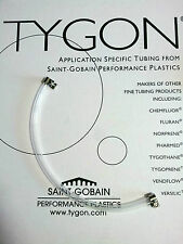 """Tygon 2375 tubing 8mm ID 2075 12"""" 30cm length 5/16"""" tube + S S CLAMPS TBE.010"""