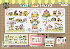 """Teddy Bear Bakery"" Cross stitch pattern leaflet. Big Chart. SODA SO-G77"