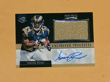 2012 Prominence Unlimited Potential Rookie Jersey Auto Football Card Isaiah Pead