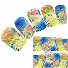 Tattoo Nail Art Aufkleber Muster Bunt Colorful Nagel Sticker Neu!