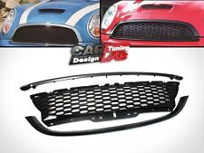 Black Replacement Sport Front Mesh Hood Grille Grill for Mini Cooper S R56 Mk2