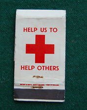 British Red Cross Society Matchbook - Vintage Charity Advertising