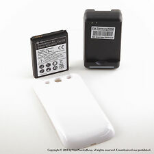 4300mAh Extended Battery for Samsung Galaxy S3 White Cover Dock Charger