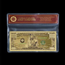 Colored $1 Million Dollar Bill .999 Fine Gold U.S Banknote In Sleeve Collectible