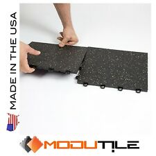 Fitness Flooring Rubber Top Tiles Easy installation - Made In The USA