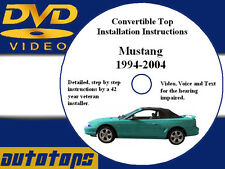 Mustang Convertible Top Installation DVD  94-04  Make Money - Save Money - DIY