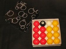 """2""""(51mm) SUPERLEAGUE COMPETITION MATCH POOL TABLE BALLS 1 7/8 (47.5mm) Cue ball"""