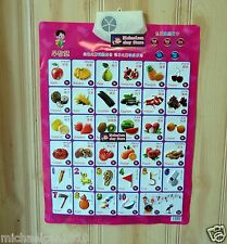 Children's Early Education Audible Sound Charts --Know Vegetables and Numbers