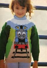 THOMAS THE TANK SWEATER AS SHOWN - KNITTING  PATTERN COPY