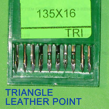 10pcs Sewing machine Needle 135x16 TRI Triangle leather point #24