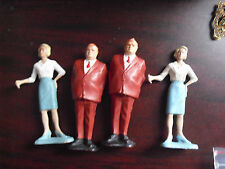 "Lot of 4 Vintage 1960s Gilbert Plastic James Bond Figurines 3 1/4"" Tall"
