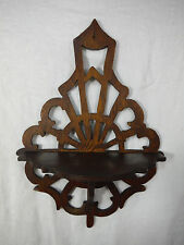 Antique ARTS & CRAFTS Small Wood COMPASS WALL SHELF Hand Made Sconce DISPLAY