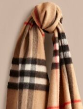 Burberry Classic Cashmere Scarf - CAMEL NWT $ 435 UNISEX