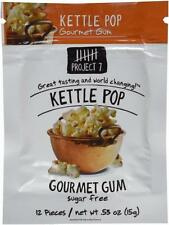 3 Packs Project 7 KETTLE POP Gourmet Gum NEW FLAVOR Free Shipping USA MADE