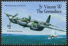 RAF de Havilland MOSQUITO DH.98 WWII Aircraft Stamp (1993 St Vincent & Gren.)
