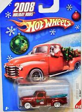 HOT WHEELS HOLIDAY RODS 2008 '52 CHEVY #6/6 RED CHASE