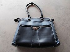 Top Quality McKlein black leather Womens laptop protection attache briefcase