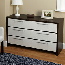 Six Drawer Chest Dresser Bedroom Bed Room Wood Furniture Drawers Storage New