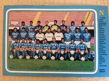 CARTOLINA CALCIO NAPOLI SQUADRA SCHIERATA CAMPIONATO 1992/93 ZOLA CARECA PARI...