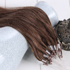 16-26Inch Double Drawn 100% Remy Human Hair Extensions Loop Micro Ring Beads