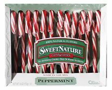 SWEET NATURE 12pc Candy Canes PEPPERMINT 6 oz Box HOLIDAY Candies Exp. 5/19