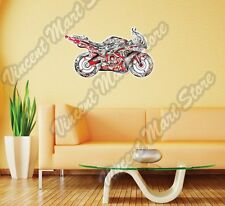 """Sportbike Motorcycle Bike Abstract Wall Sticker Room Interior Decor 25""""X16"""""""