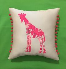 NEW Giraffe pillow made with LILLY PULITZER Rule Breakers fabric