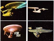 4 STAR TREK 1966 color 8 x 10 photos, Enterprise in space special FX