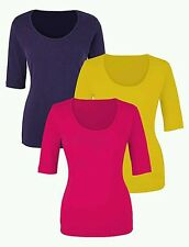 Ladies Top (3 Pack!) Hot Pink Navy Lime Size 24-26