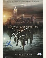 Lily Collins Jamie Campbell Bower Cassandra Clare Signed 11x14 Photo PSA/DNA COA