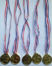 24 x Children Gold Plastic Winners Medals Sports Day Party Bag Prize Awards Toys