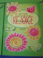 "Small House/ Garden Flag 12.5"" x 18"" Day the Lord has made we will REJOICE in it"