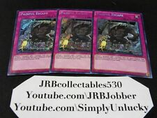Yugioh Painful Escape MP16-EN162 Secret Rare 1st Ed x3!