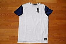 JACK & JONES sz XL NEW MENS T-SHIRT POLO COTTON SPORTS WHITE CASUAL GRID NAVY