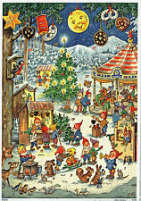 NATALE LUNA PARK spazio Advent Calendario Kurt incendio reprint ARGENTO mica 10100