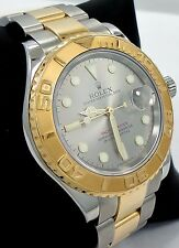 Rolex Yacht-Master 16623 Two Tone 18K Yellow Gold & SS Silver Dial Date *MINT*