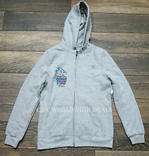 NEW Run Disney Marathon 2016 Men's Gray Zip Hoodie Jacket - Size Small