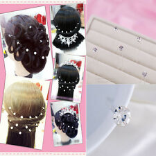 20 Pcs Pretty Shiny Wedding Bride Pearl Rhinestone Hair Twists  hair plate