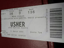 Usher ticket, Wembley Arena, London, March 2002