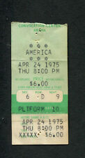 1975 America Concert Ticket Stub Notre Dame IN A&CC Hearts Sister Golden Hair