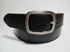 "Men leather belt Black with Smoke Color Buckle M 34 - 36"" #1629AB"