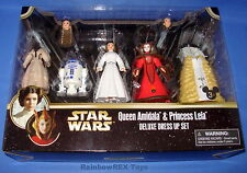Star Wars Disney Parks Queen Amidala & Princess Leia Deluxe Dress Up Set MIB