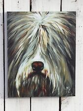 Wonderful  DOG head animal canvas picture primitive country home/wall decor  #5