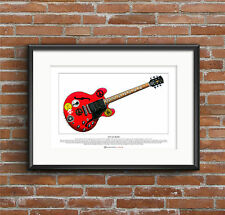 Alvin Lee's Gibson ES-335 Big Red Limited Edition Fine Art Print A3 size