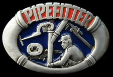 Pipefittters Plumbers Pipes Workers Tools Pewter Belt Buckle Boucle de Ceintures