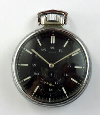 OLD ROLEX MILITARY POCKET WATCH ENAMEL BLACK DIAL